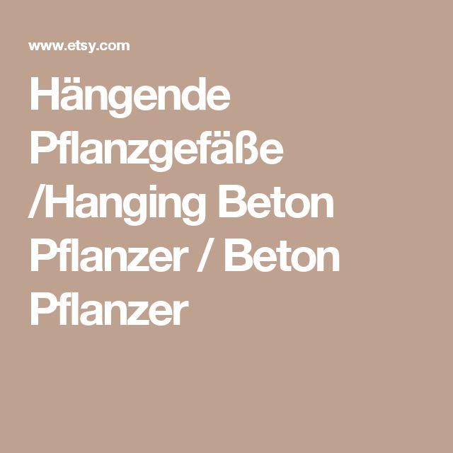 Hängende Pflanzgefäße /Hanging Beton Pflanzer / Beton Pflanzer