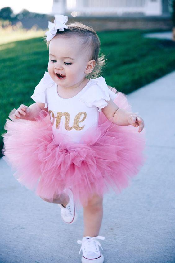 Beautiful First Birthday Girl Outfits  Tut De Cumpleaos, Cumpleaos De Un Ao Y Fotos De -5915