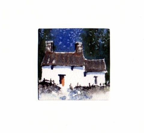 Hand Painted Card - Welsh cottage a4 by WendyPowellJonesArt on Etsy