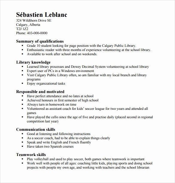 Resume Examples For Highschool Students Luxury Free 6 Sample High School Resume Templates I High School Resume High School Resume Template Resume Template Word