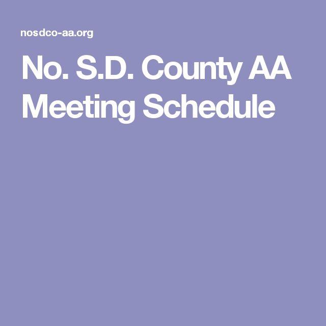 No. S.D. County AA Meeting Schedule