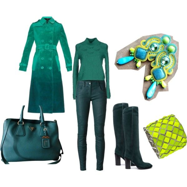 colored fall by galeriamagia on Polyvore featuring moda, Jil Sander Navy, Burberry, DKNY, COSTUME NATIONAL, Prada and Blu Bijoux