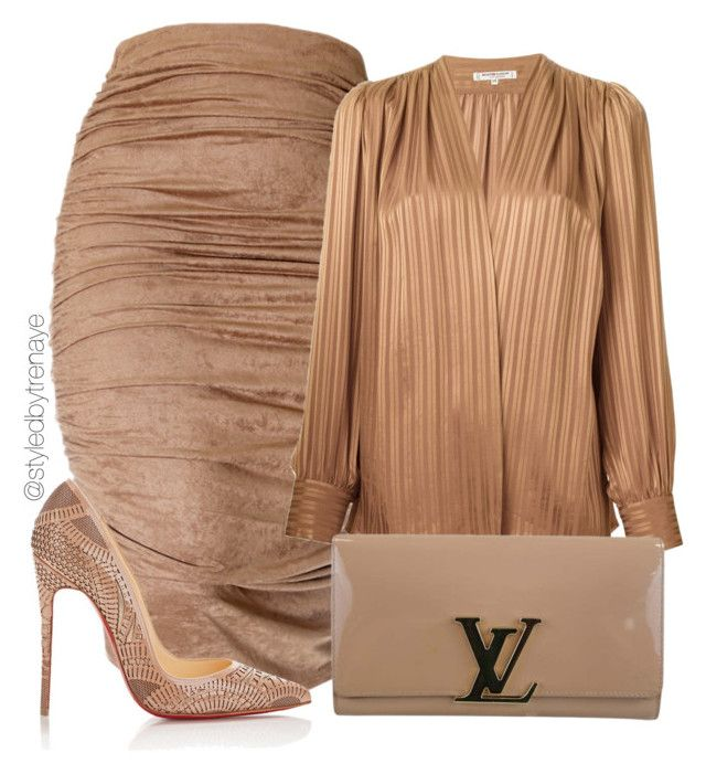 """""""Untitled #1229"""" by tamararenaye ❤ liked on Polyvore featuring Yves Saint Laurent, Christian Louboutin and Louis Vuitton"""
