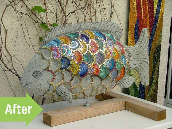 38 best fish mosaic images on pinterest mosaic mosaics for Mosaic landscape design