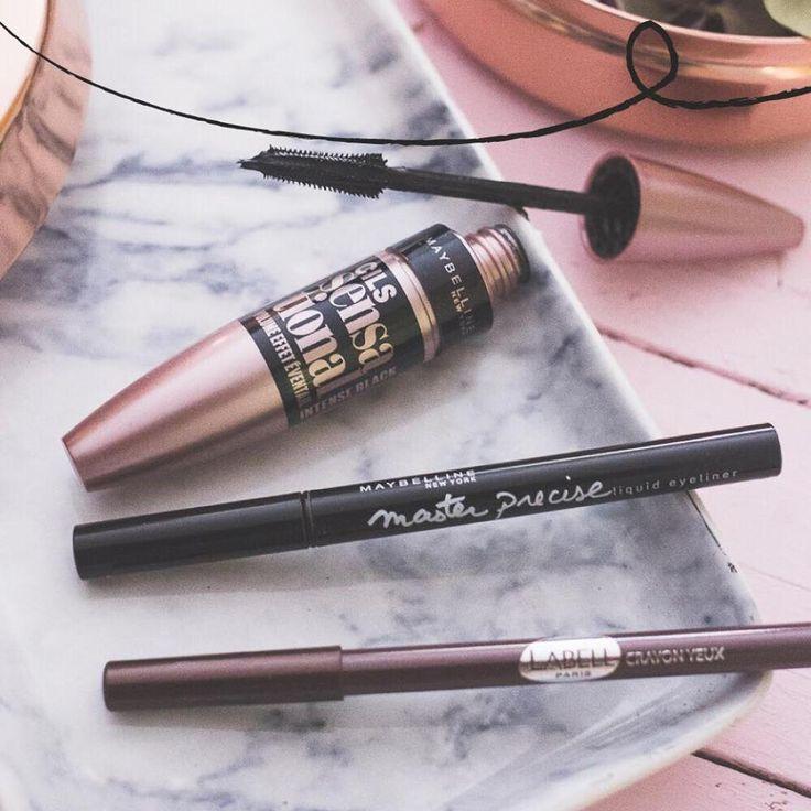 Pour le reste de mon maquillage de la photo précédente : le mascara Cils Sensational de Gemey-Maybelline / le liner Master Precise / crayon yeux Labell #MonCahierBeauté #Beauté #Beauty #makeup #Intermarché