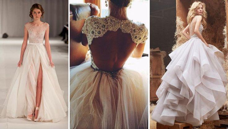 Znalezione obrazy dla zapytania proste suknie ślubne dekolt na plecach