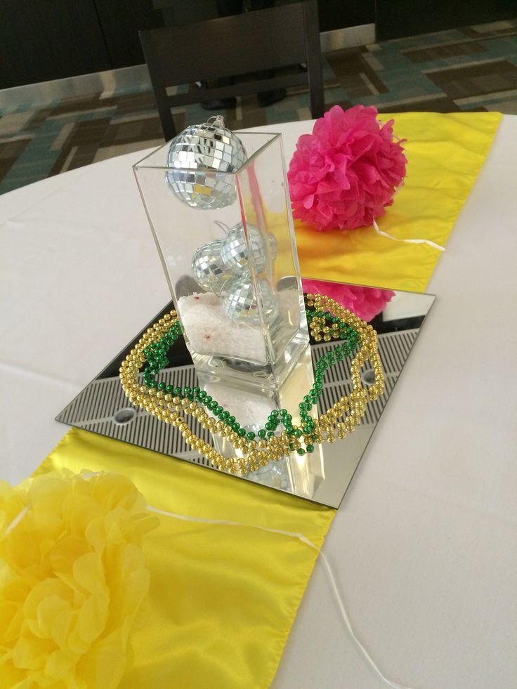 martini cocktails decoration yellow disco ball