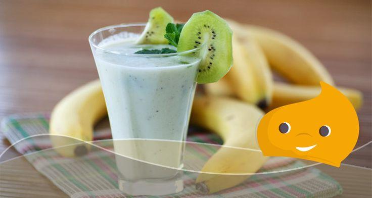 Ricette Light veloci: Frullato banane e kiwi -  #ricetta #light #frullato #dieta #dolcificante #stevia #Truvìa ChiacchiereDolci.it