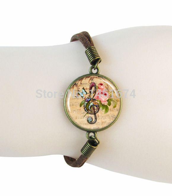 Вч G-Clef музыкальная нота браслет ювелирные изделия музыка-замшевые, кожаные браслеты для женщин аксессуары браслет обруча подарки браслеты