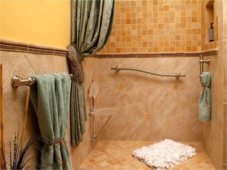 Stylish shower seat and grab bar