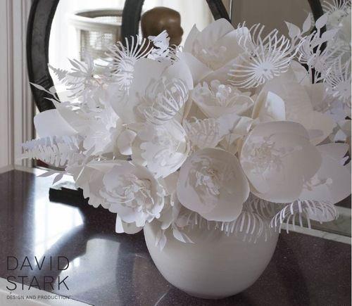 david stark white paper flowers