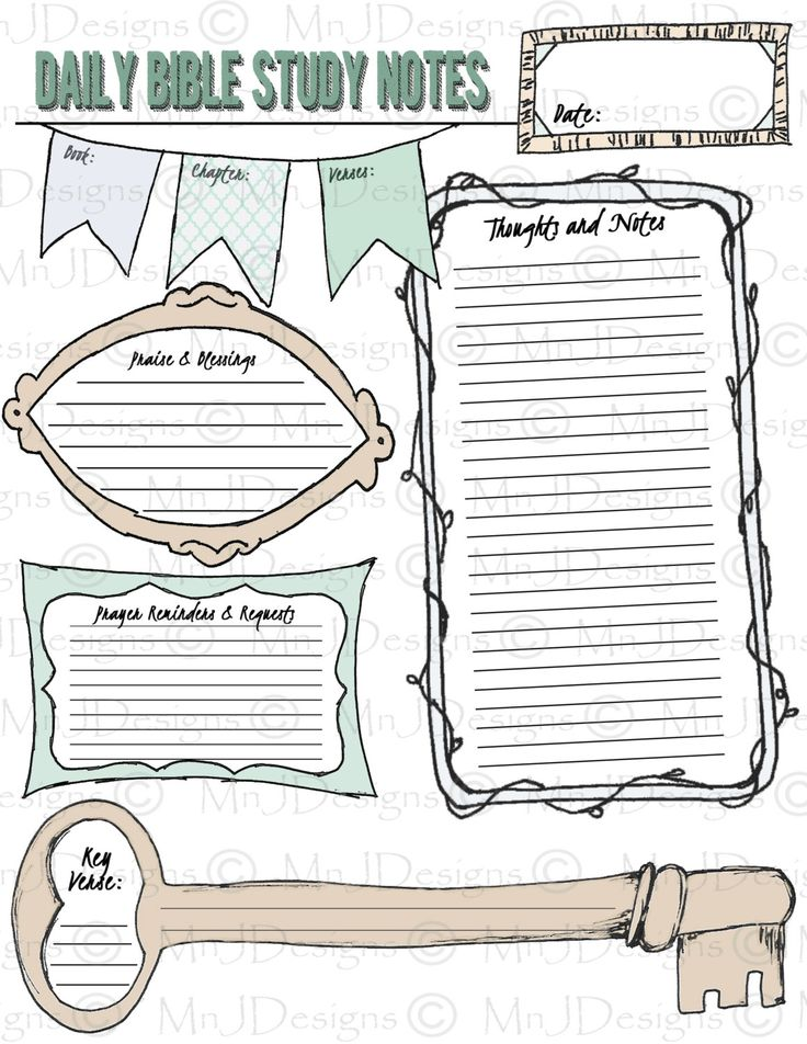 Free Printable Scripture Journal Pages