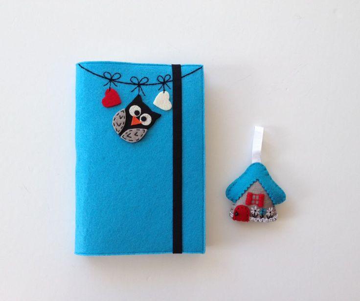 Baykuş Figürlü Mavi Keçeden Kitap Kılıfı - Diğer 360354 | zet.com