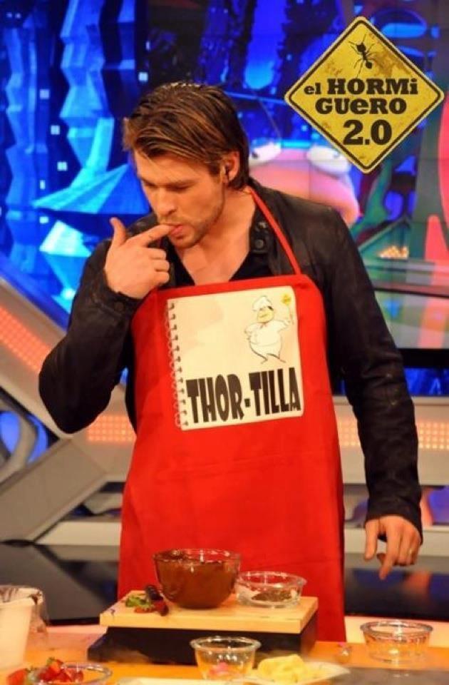 THOR-TILLA! Killed me dead... Chris Hemsworth on Spanish TV show El Hormiguero