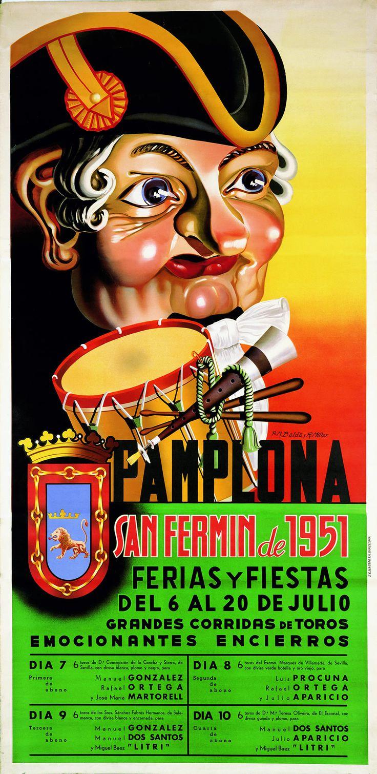 San Fermín 1951 Martín Balda y R. Millor