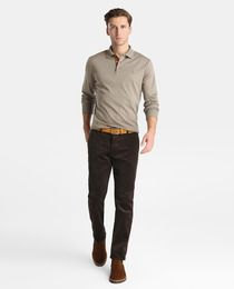 Pantalón de pana de hombre Polo Ralph Lauren slim marrón