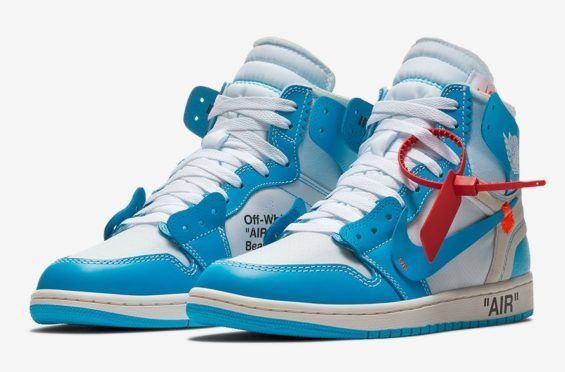 Official Images: OFF WHITE x Air Jordan 1 Powder Blue (UNC