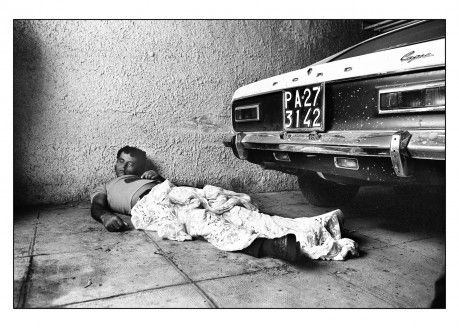 Palermo, 1988. Assassination with Palermo plate © Letizia Battaglia