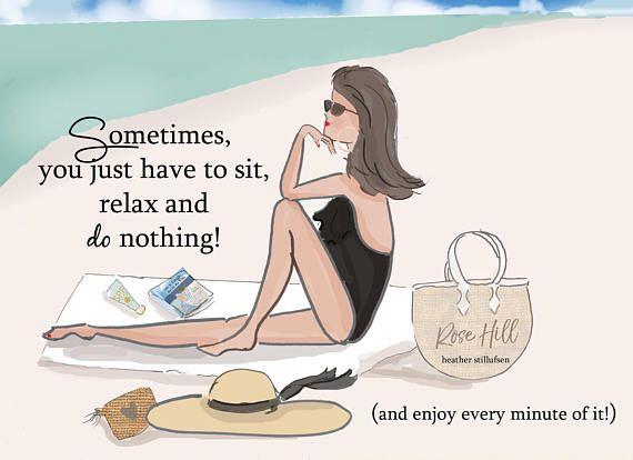 Sedersi rilassarsi e non fare nulla Beach Art citazioni