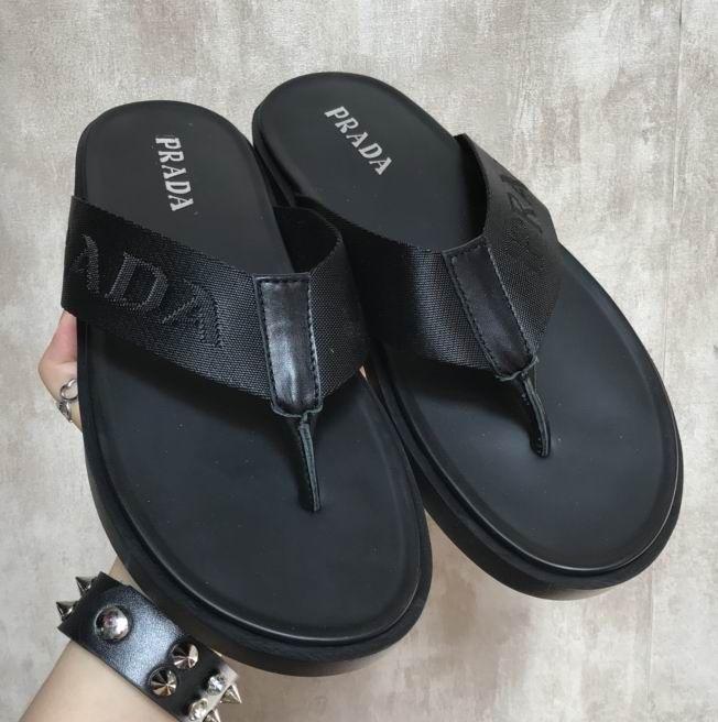 ab2a1431b8b2e Prada Nylon Band Thong Sandals