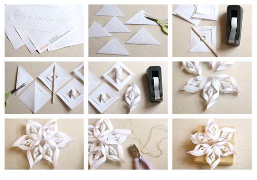 DIY paper snowflake tutorial
