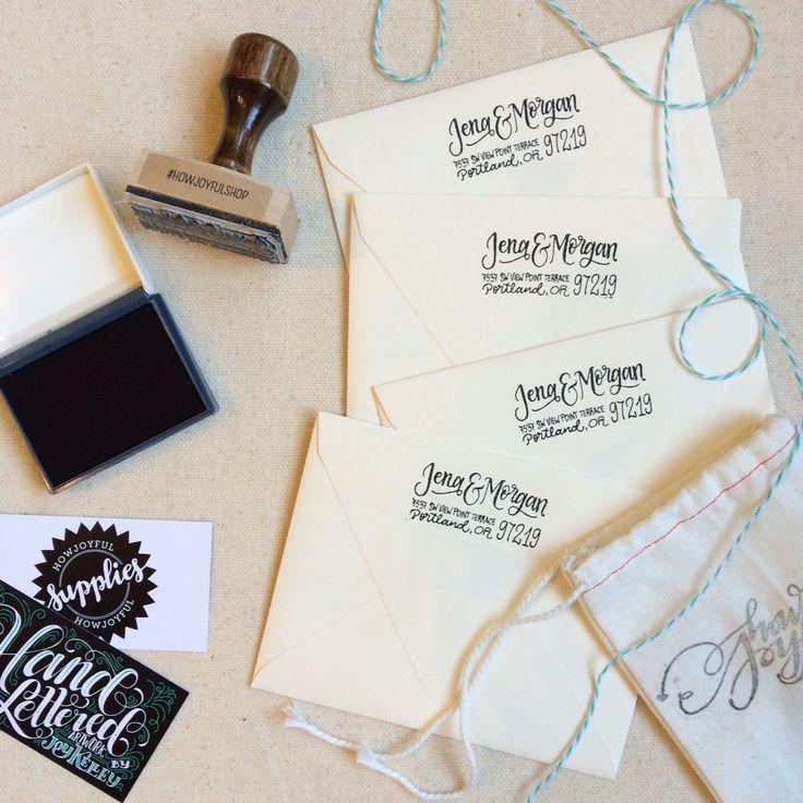 how to return address wedding envelopes%0A Wood Mounted Personalized Address Stamp by How Joyful   Elli com  Wedding  SouvenirAddress StampPersonalized WeddingReturn