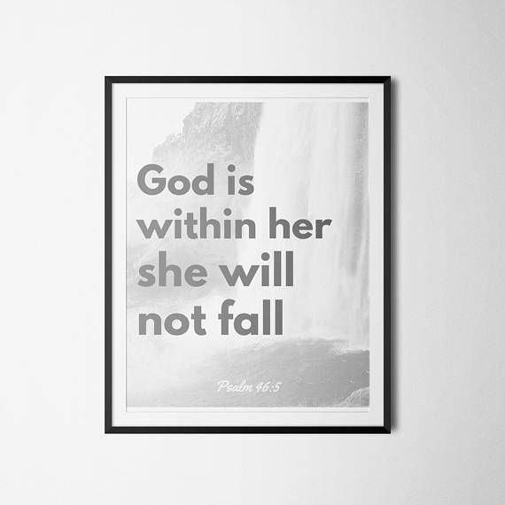 Bible Verse Printable Psalm 46:5 God is within her she will