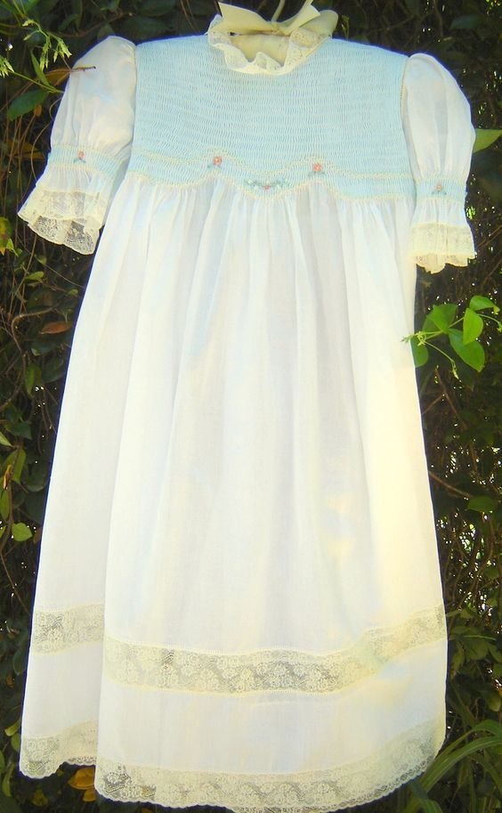 shadow smocked Easter dress was inspired by Kay Guiles' article in Sew Beautiful, Easter, 1998.