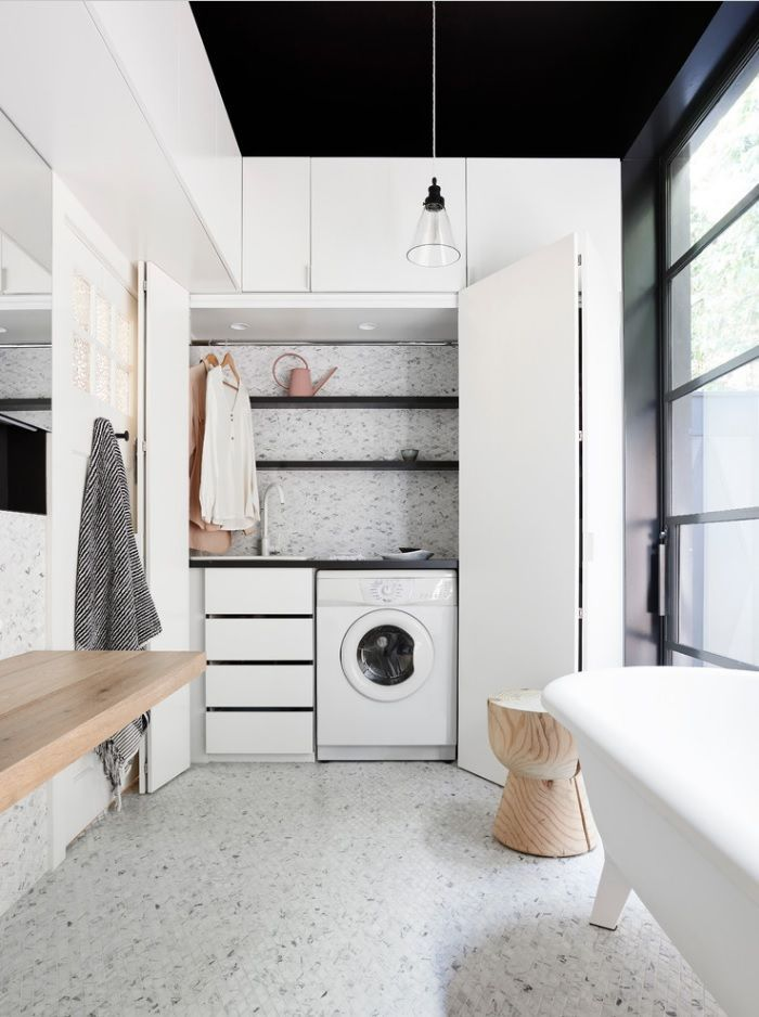 15 small laundry room ideas / 15 ideas para un cuarto de lavado chiquito - Casa Haus Decor