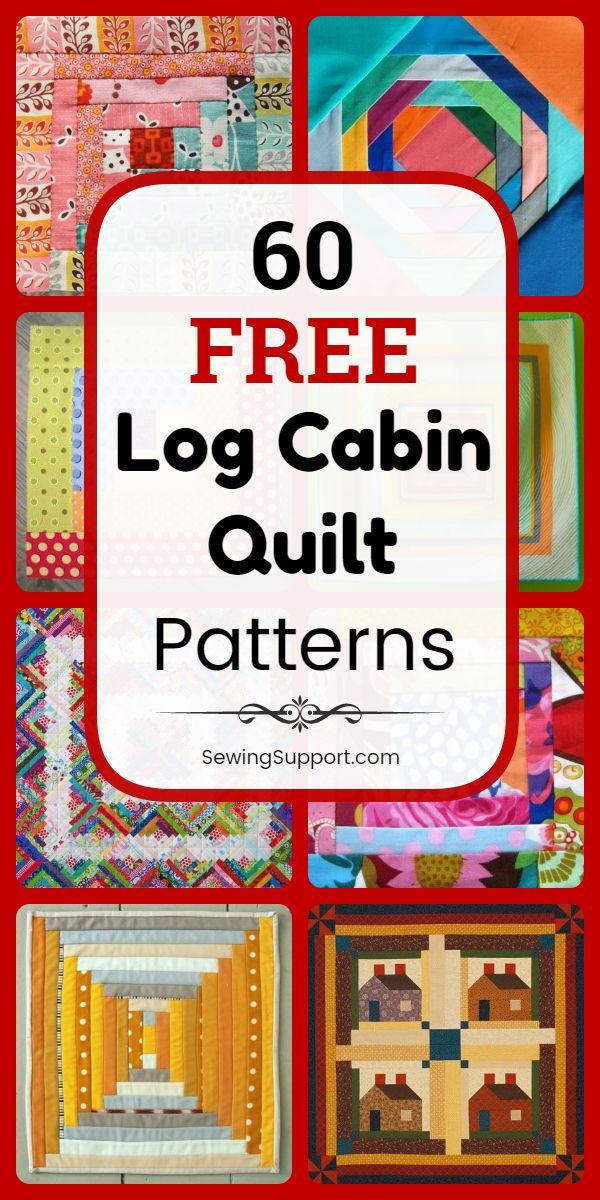 60 Free Log Cabin Quilt Patterns