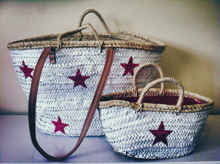 ✔ painted straw bags