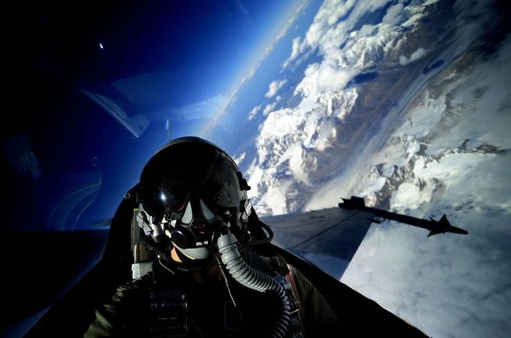 U.S. Air Force Tech. Sgt. James L. Harper Jr., from 1st Combat Camera Squadron, takes a self portrait in an F-16 Fighting Falcon from the 18th Aggressor Squadron June 24, 2010, during exercise Red Flag-Alaska. U.S. Air Force Photo #16 by Tech. Sgt. James L. Harper Jr.