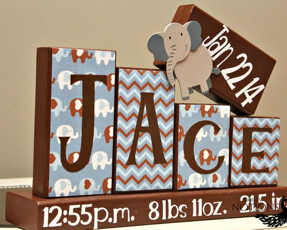 personalized baby blocks 4 letters name birth statsannouncement how to order contact me using the ask a question link on the r