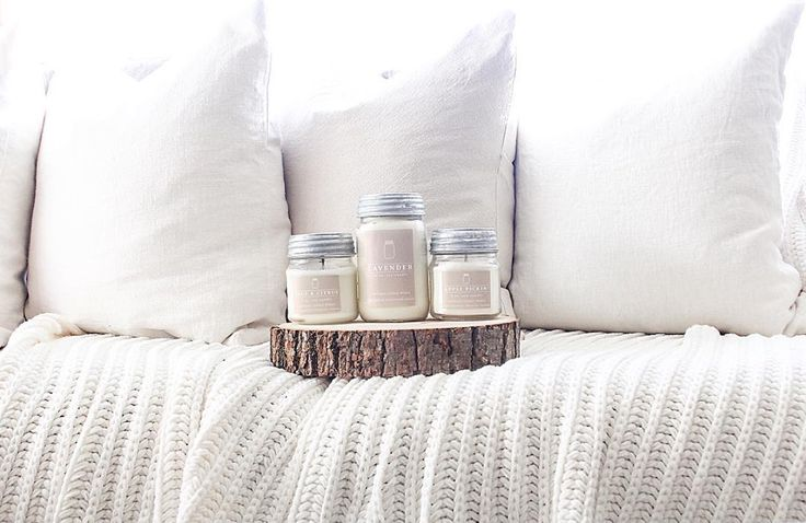 Some of our BEST Spring fragrances all together in Erica's home (Our Humble Nest)! Lavender, Sage & Citrus, and Apple Pickin'~ Vintage Inspired Modern Farmhouse Decor - Beautiful Handmade Scented Soy Candles