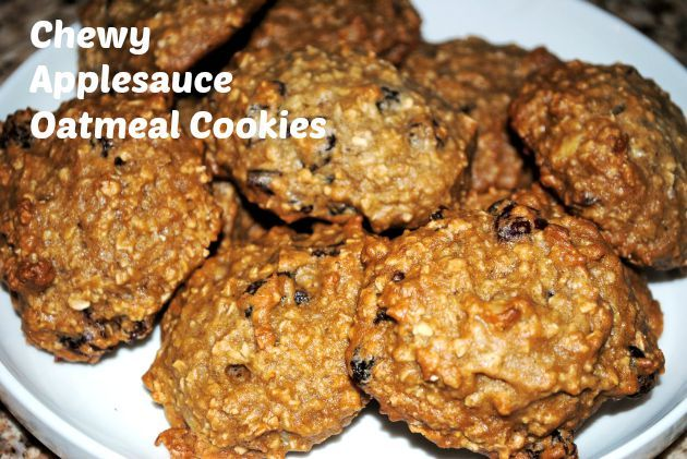 Chewy Applesauce Oatmeal Cookies http://motherrimmy.com/chewey-applesauce-oatmeal-cookies/