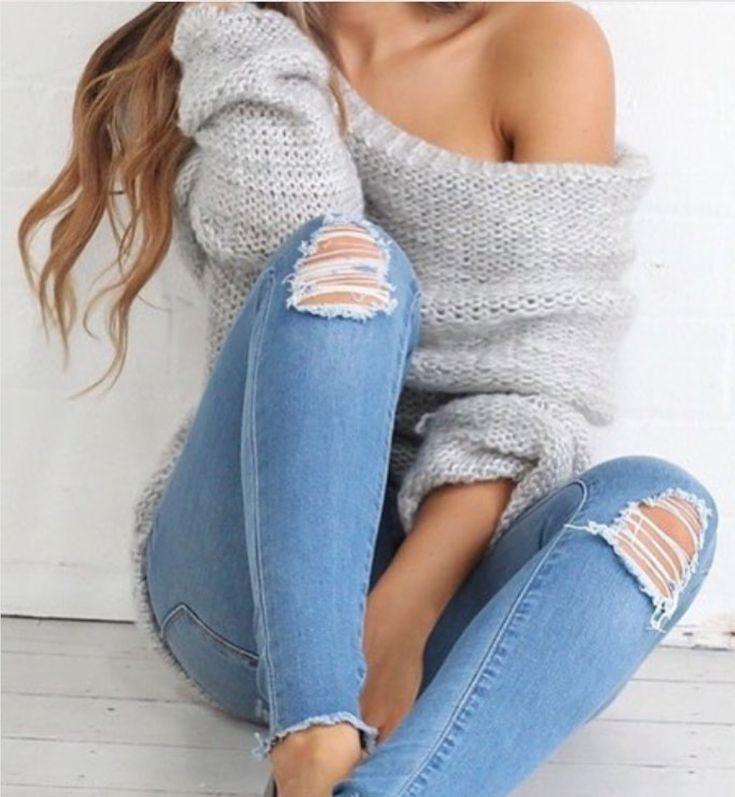 Девушка в джинсах и кофте картинки