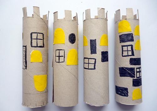 Teelicht - Haus - Papier Basteln - Meine Enkel und ich - Made with schwedesign.de