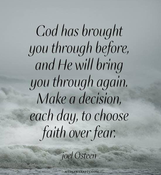 Choose FAITH over FEAR!!!