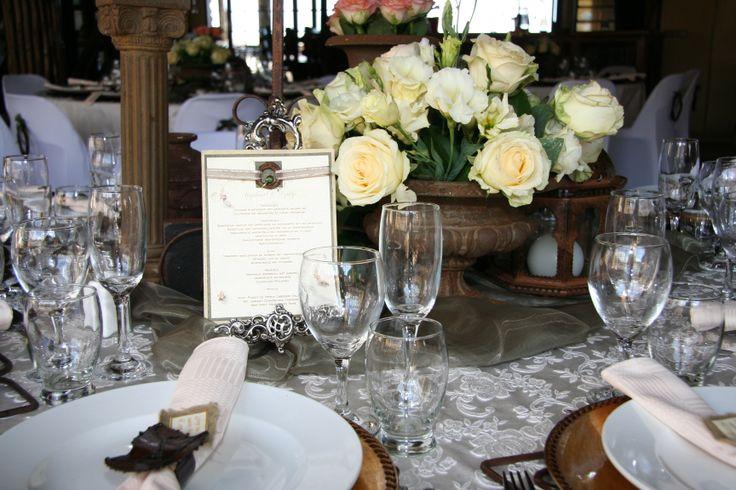 A touch of class! #Elegance! Note the #Menu!  wwwthabatshwene.co.za