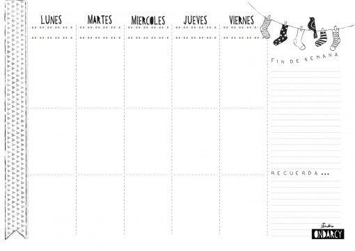 Planning semanal // Weekly planner
