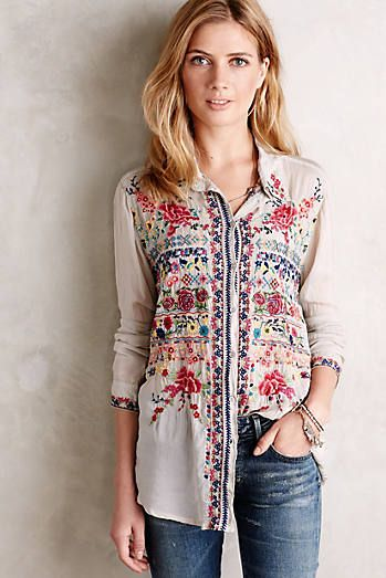 Buttondown + Embroidery