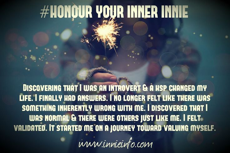 """The first in the """"Honour Your Inner Innie""""© Meme Series- created by me, this gorgeous one focuses on the #discovery of your #introversion and/or of being a #HSP And how this beautiful #validation..."""