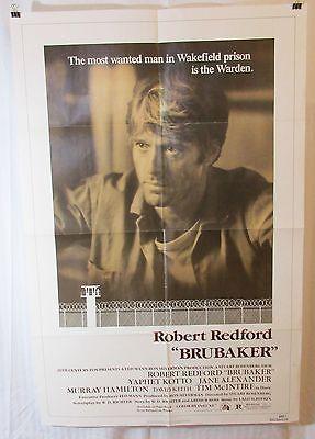 Brubaker 1980 Movie Poster Robert Redford Morgan Freeman Jane Alexander
