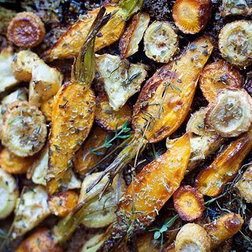 Légumes rôtis à la grecque - Recette pauvre en FODMAP
