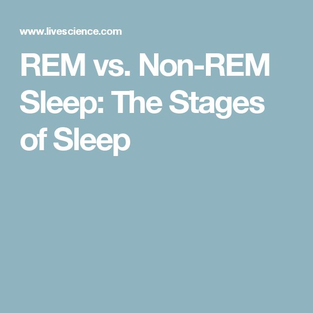 REM vs. Non-REM Sleep: The Stages of Sleep