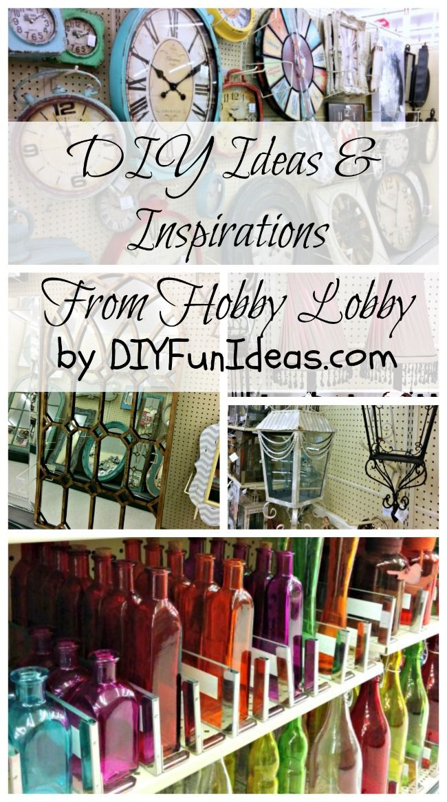 FUN DIY IDEAS and INSPIRATIONS FROM HOBBY LOBBY...............Check out tons more fun DIY's at DIYFunIdeas.com