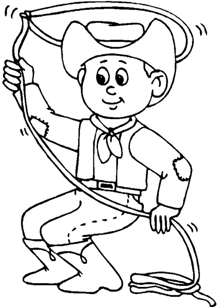 Coloring Activities Printable Coloring Pages Cowboy