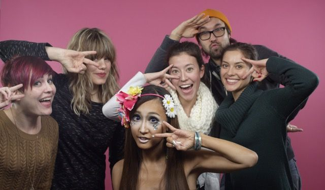 Group photo of the crew - BTS of 100 Years of Beauty: Japan (Mei) #hair #hairstyle #makeup #fashion #style #100yearsofbeauty