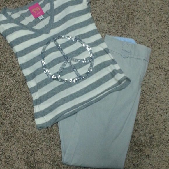 Light Gray Ann Taylor loft pants Great condition, Ann Taylor loft, 97% cotton, bought from fellow posher, wrong size. Ann Taylor Pants