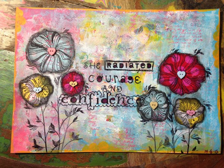 She radiated courage and confidence Mixed media art